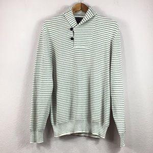 NWT Bloomingdales Nautical Shawl Collar Sweater XL